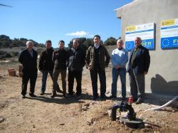 Inauguración de la obra hidráulica en Masegoso.