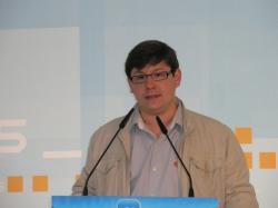 Max Monasor, en la sede provincial del PP.