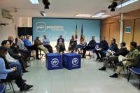 Mesa abierta de Hacienda y Administraciones Públicas, en la sede del PP de Albacete.