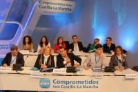 Mesa del XII Congreso del PP de Castilla-La Mancha.