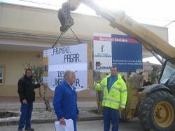 Manifestación del contratista en Minaya.