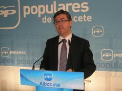 Marcial Marín, en la sede provincial del PP.