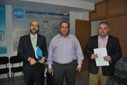 Juan Marcos Molina, Pedro Pablo Sánchez y Constantino Berruga.
