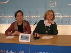 Marisa Soriano y Carmen Bayod, en la sede provincial.