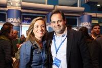 Carmen Navarro y Paco Núñez, en la Convención Nacional del PP celebrada en Madrid.