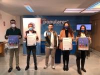 Presentación de la campaña, en la sede del PP de Albacete.