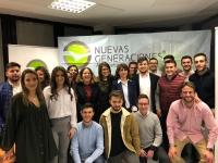 Congreso de NNGG de La Roda, con presencia de Delfina Molina.