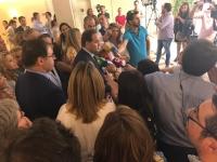 Paco Núñez, al término de la Junta Directiva Regional del PP-CLM celebrado en Toledo.