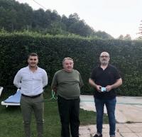 El portavoz de Paterna, Francisco García, junto a Juan Carlos González y Francisco Vizcaíno.