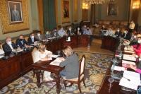 Pleno en la Diputación de Albacete.