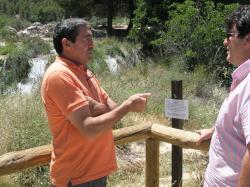 José Tello y Antonio Serrano, en las Lagunas de Ruidera.