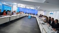 Reunión de presidentes provinciales del PP en Madrid.