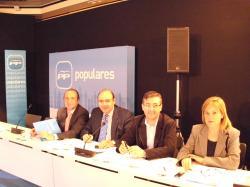 Marcial Marín, junto con los presidentes de Cuenca, Granada y Alicante.