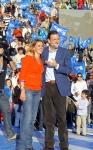 Cospedal y Rajoy, en la Plaza de Toros de Toledo.