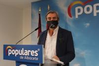 Ramón Rodríguez, en la sede del PP de Albacete.