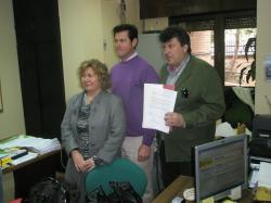 Amparo Núñez, Antonio Serrano y Ángel Alfaro.