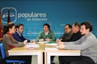 Imagen de la reunión de la Comisión de Agricultura del PP de Albacete.
