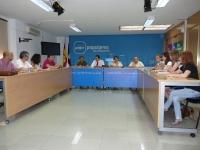 Reunión entre el presidente provincial del PP, Francisco Núñez, y los parlamentarios nacionales y regionales.