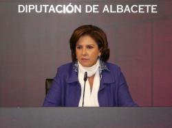 Mari Carmen Martín, en la sala de prensa de la Diputación.