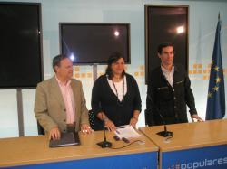 Fernando Carreño, Cesárea Arnedo y Javier García Guerrero.