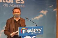 Antonio Martínez, en la sede del PP de Albacete.