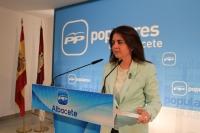 La senadora Belén Torres.
