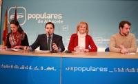 Francisco Núñez, Carmen Bayod, Luis Alberto Roldán y María Delicado en rueda de prensa.