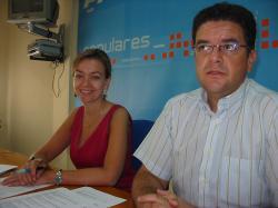 Inmaculada López y Juan Antonio Moreno, en Hellín.