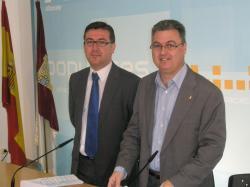 Marcial Marín y Fermín Cerdán, en la sede provincial del PP.