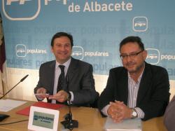 José Luis Teruel y Francisco Utrera, en la sede provincial.