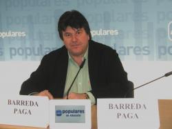 Antonio Serrano, en la sede provincial del PP.