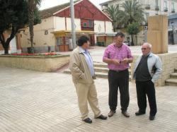 Antonio Serrano y José Miguel Mollá, en Caudete.