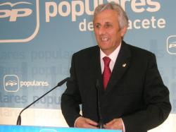 Sixto González, en la sede del PP: