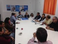 Reunión de la junta directiva del PP de Tobarra con Paco Núñez.