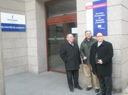 Alcaldes de Montealegre, Pétrola y Corral Rubio, en la Delegación de Ordenación del Territorio.