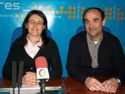 Valentín Bueno y Amalia Gutiérrez, en Villarrobledo.