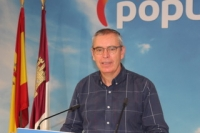 Vicente Aroca, en la sede provincial del Partido Popular de Albacete.
