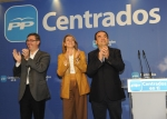 Cospedal, junto a Marcial Marín y Valentín Bueno.