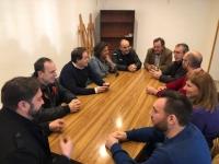 Reunión de alcaldes y portavoces del PP en la comarca de la Mancha.
